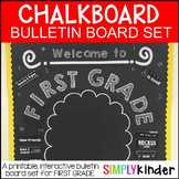 Meet the Teacher - Chalkboard Bulletin Board - First Grade - Back to school