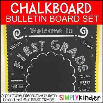 Meet the Teacher - Chalkboard Bulletin Board - First Grade - Back to school