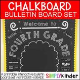 Chalkboard Bulletin Board - First Day of Fourth Grade - Back to School