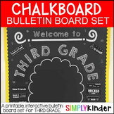 Chalkboard Bulletin Board - First Day of Third Grade - Bac