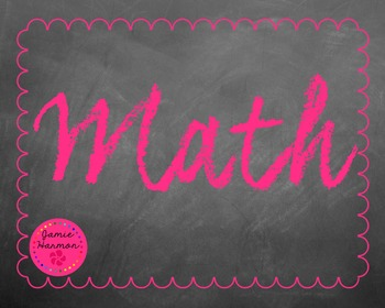 Chalkboard Bulletin Board Headers
