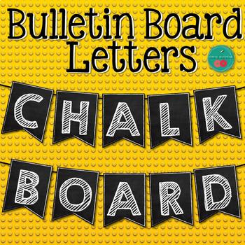 Chalkboard Bulletin Board Letters