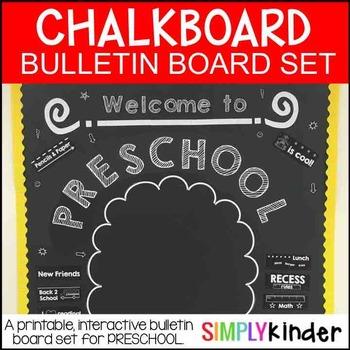 Meet the Teacher - Chalkboard Bulletin Board - preschool - Back to school