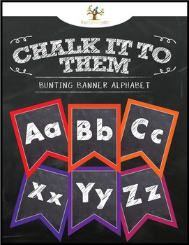"Chalkboard Bunting Banner Alphabet ""Chalk It To Them Collection"""