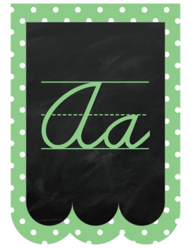 "Chalkboard Bunting Banner Alphabet Pastel Cursive ""Chalk It To Them Collection"""