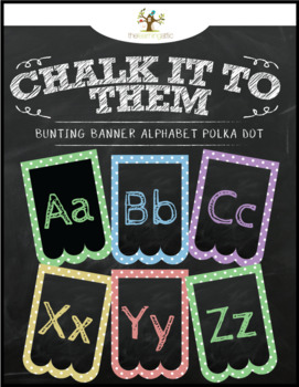 "Chalkboard Bunting Banner Alphabet in Pastel ""Chalk It To Them Collection"""