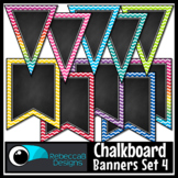 Chalkboard Bunting Clip Art Set 4