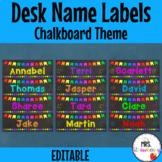 Chalkboard Bunting Desk Name Plates | Labels **Editable**