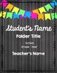 Chalkboard Bunting Editable Folder