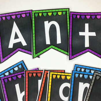 Chalkboard Bunting Letters- Capitals and Lowercase