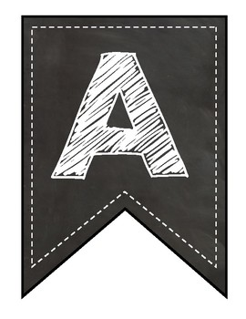 Chalkboard Bunting--Letters, Numbers and Special Pictures!