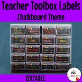 Chalkboard Bunting Toolbox Drawer Labels ** Editable