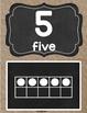 Chalkboard & Burlap 10 Frame Cards