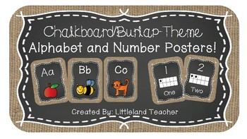 Chalkboard/Burlap Alphabet and Number Posters!