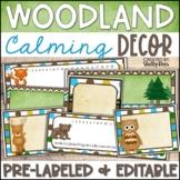 Woodland Theme Classroom Decor - EDITABLE Templates!