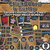 Chalkboard & Burlap Theme