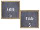 Chalkboard Burlap Editable Table Numbers