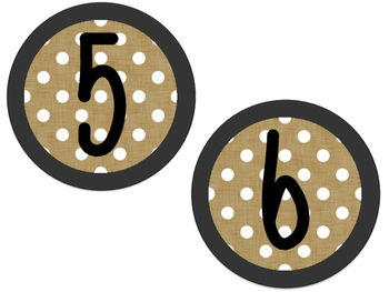 Chalkboard Burlap Numbers