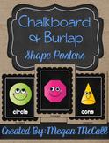 Chalkboard &Burlap Shape Posters: 2D & 3D