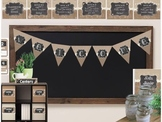 Chalkboard, Burlap and Buttons Classroom Decor Set