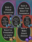 Chalkboard Butterfly Themed Whole Brain Teaching Rules
