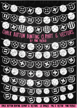Chalkboard Button Bunting Flag Clipart Clip Art