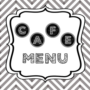 CAFE Menu - Chalkboard Theme regular and emergent versions