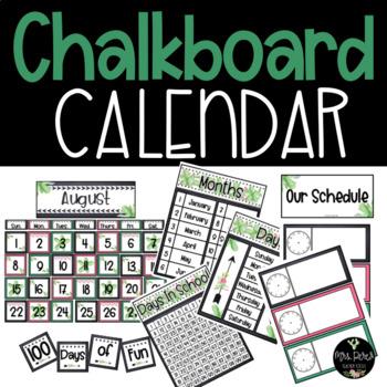 Chalkboard & Cactus Calendar Builder