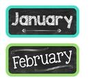 Chalkboard Calendar Cards