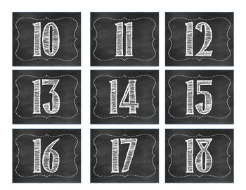 Chalkboard Calendar Days