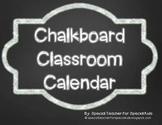 Chalkboard Calendar Kit