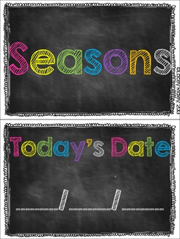 Chalkboard Calendar Labels {Bright & Colorful}