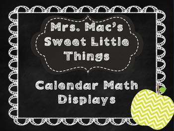 Chalkboard Calendar Math Posters