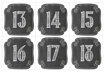 Chalkboard Calendar Package