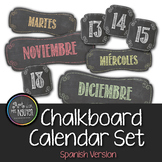 Chalkboard Calendar Package: Spanish Version