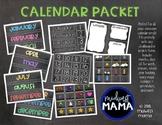 Chalkboard Calendar Packet