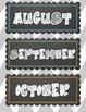 Chalkboard Calendar Set
