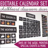 Chalkboard Calendar Set -  Chalkboard Classroom Decor