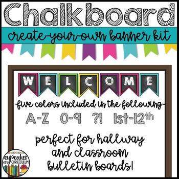 Chalkboard Banner Set