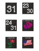 Calendar Set for Pocket Chart - Chalkboard Decor