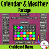 Chalkboard Calendar and Weather Pack