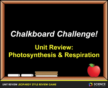 Jeopardy Game: Biochemistry, Photosynthesis & Respiration Review