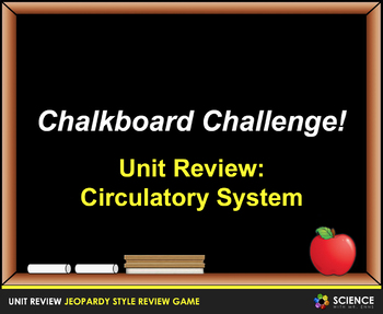 Jeopardy Game: Circulatory System Review