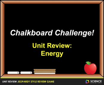 Jeopardy Game: Energy Review