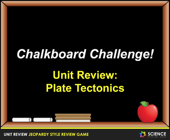 Jeopardy Game: Plate Tectonics Review