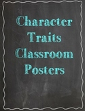 Chalkboard Character Traits Posters