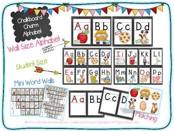 Chalkboard Charm Alphabet