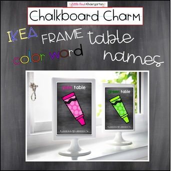 Chalkboard Charm IKEA Frame Color Word Table Names