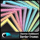 Framed Chalkboard Clip Art (Chevron)