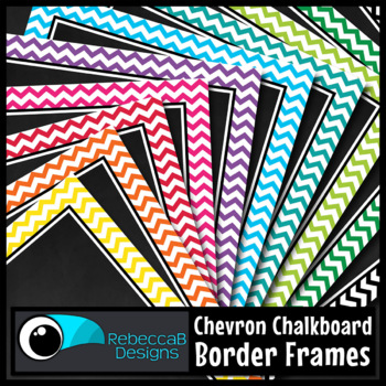 Framed Chalkboard Clip Art (Chevron)